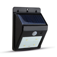 4LED Bright Solar Powered Wireless Outdoor PIR Motion Sensor Waterproof Garden Lamp